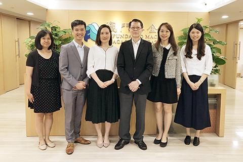 理事長程美珍、副理事長李昇恆、副監事長陳思恆及會員大會秘書鄭德雯(2019年5月)